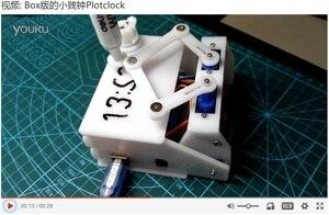 Image 3 - Caixa de Versão Plotclock Robótico Escreve O Tempo com UM Marcador de Enredo Inteligente Relógio Relógio DIY Robô com o UNO Desenho Robô relógio chato