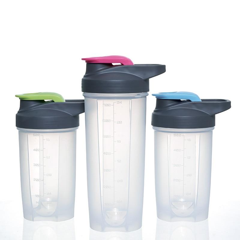 Protein Powder Shaker Bottle Fitness Mixer Sports Fitness Gym Whey Protein Shaker Milk Shaker 500MLWater Bottle ...