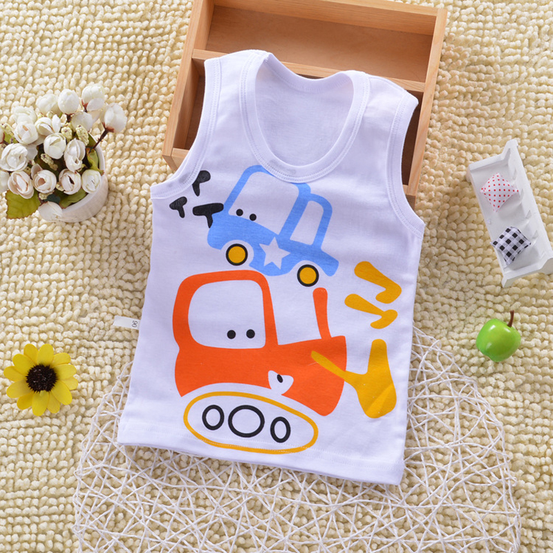 Baby Tops Children Vest Boys Girls Summer T Shirts Sleeveless Tank Camisoles Solid Toddler Tees T-Shirt Size 90-140cm DS19