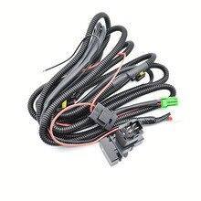 Wiring Harness Wire Sockets + Switch For H11 Fog Lamp For Suzuki SX4 Grand Vitara 2 ALTO 5 SWIFT 3 JIMNY FJ IGNIS 2