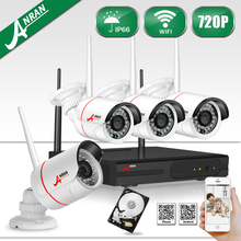 ANRAN Plug and Play HD 4CH NVR 720P Wireless CCTV System 1TB HDD Outdoor Night Vision Security Camera WIFI Surveillance Kit