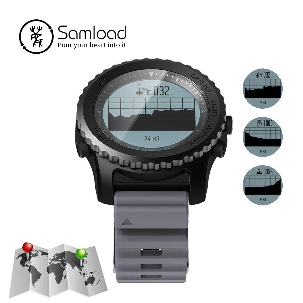 Samload Bluetooth Montre Smart Watch GPS Professionnel Sport Montre la Fréquence Cardiaque Dynamique iP68 Environnement température Pour iPhoneX Android