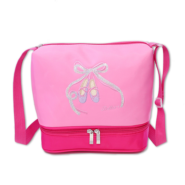 Girls Pink Ballet Bag Ballet Shoes Paillette Embroidery Cute Dance Bags for  Ballet KIDS Cross Body bfb5aa777f6b
