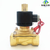 Free Shipping 2016 New 1/4,1/8,1/2,3/4,1,2, AC220V,DC12V/24V Electric Solenoid Valve Pneumatic Valve for Water Oil Air Gas