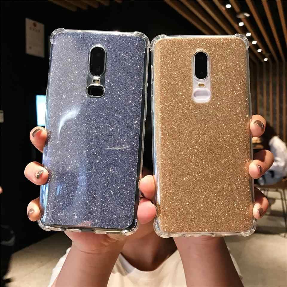 أنتيكنيك بريق 2 في 1 حافظة تي بي يو ل OnePlus 6 5T نوكيا 5 6 2018 7 Plus 8 Meizu 15 لايت M5 M6 ملاحظة M5S M6S M6T غطاء سيليكون