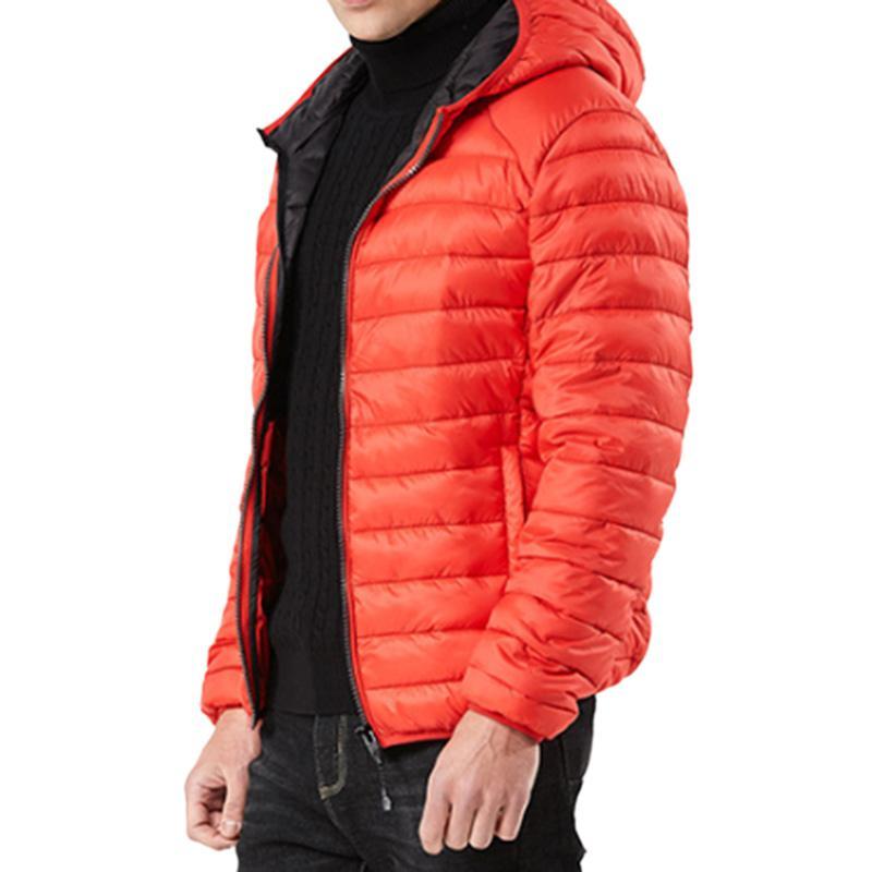 MISSKY hommes concis léger chaud vestes à capuche multicolore coton manteau pour l'hiver
