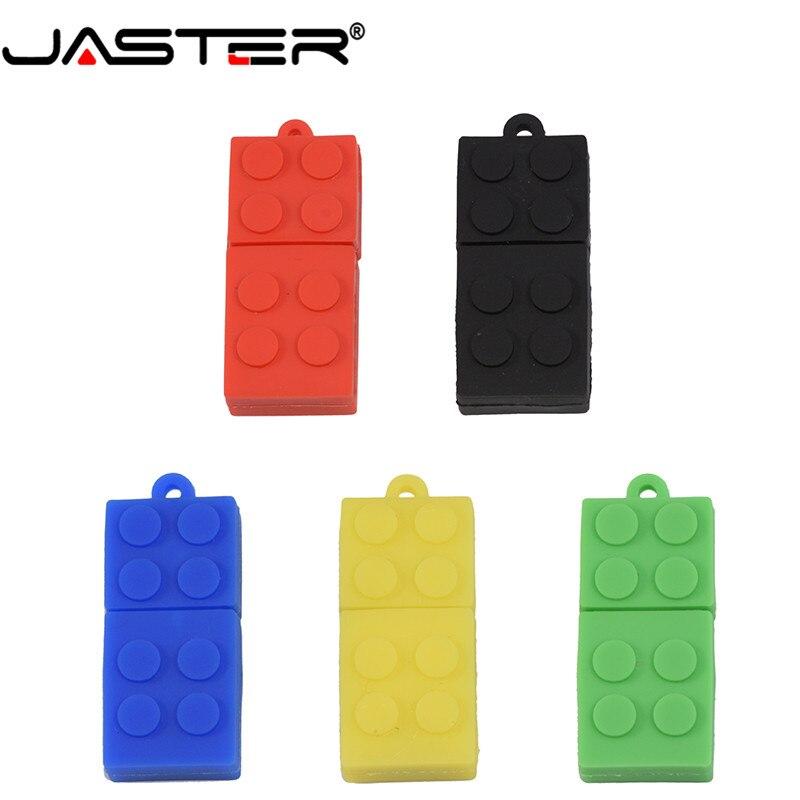 JASTER  The New Building Blocks USB Flash Drive USB 2.0 Pen Drive Minions Memory Stick Pendrive 4GB 8GB 16GB 32GB 64GB Gift