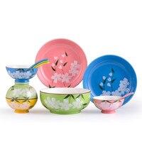 11pcs Creative Ceramic tableware Home bowl set gift