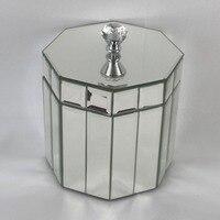 Glass Jewellery Makeup Cosmetic Organizer Storage Gift Box Jewelry Storage Box Wedding Jewellery Holder