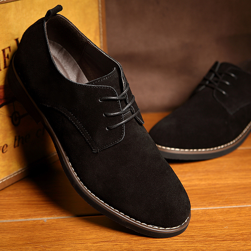 Plus Size 38-48 Oxford Men Shoes PU Suede Leather Spring Autumn Casual Men Leather Shoes Male Dress Shoes 2