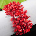 Free shipping Red Coral Beads Chip Weave Adjustable Bracelet Gem 4~8MM Charm PK1642