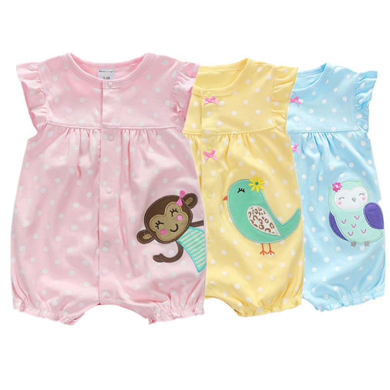 Для маленьких девочек одежда 2018 Лето ребенка комбинезон Детское платье с цветами для девочек Одежда для новорожденных хлопок детские халат...
