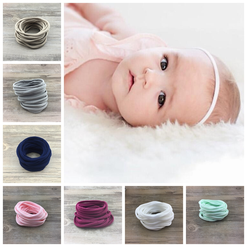 100pcs/lot Girls Boys Spandex Nylon Headband For DIY Childres