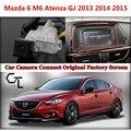 Cámara de Visión trasera para Mazda 6 M6 Atenza GJ 2013 2014 2015 Cámara Del Coche Conectado con el Original de Pantalla/Monitor del coche Original pantalla