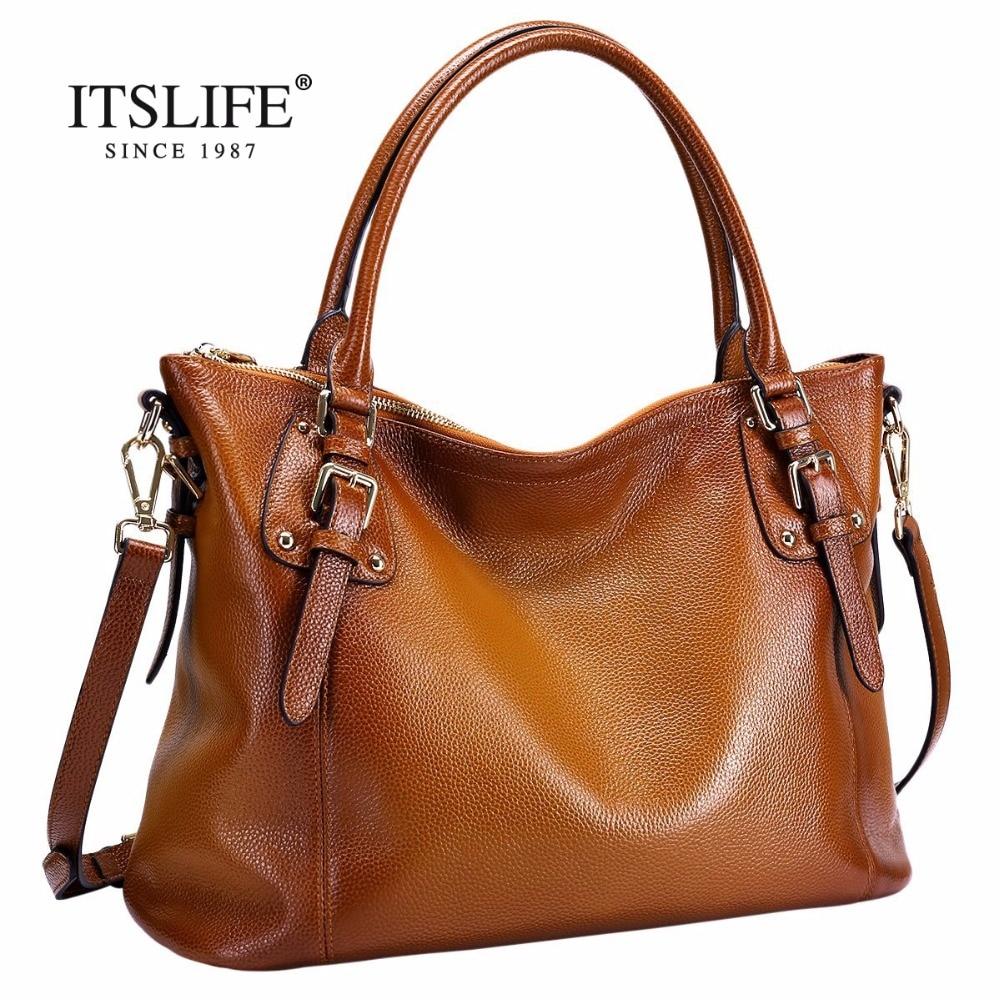The new Europe style women s big retro bag lady fashion genuine leather handbag Shoulder Messenger