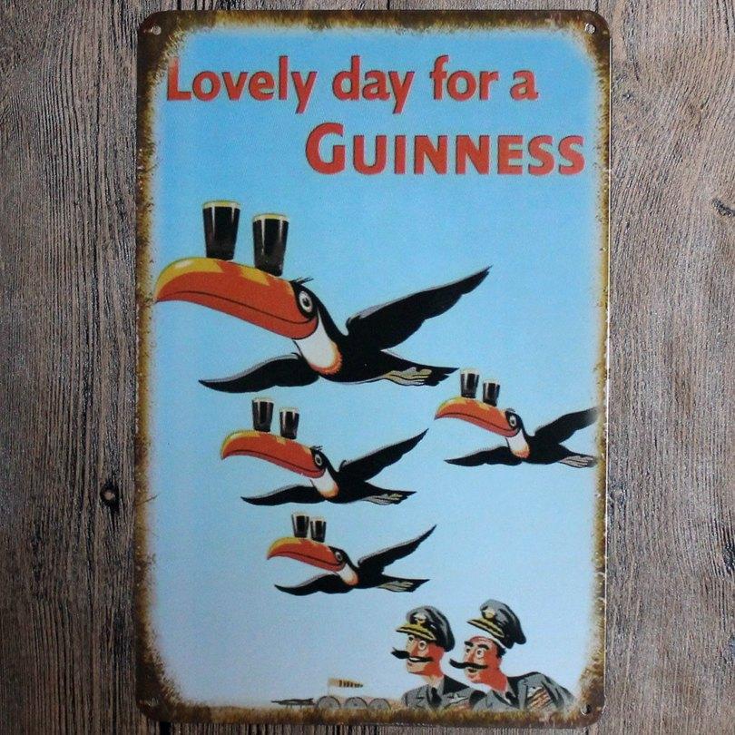 Härlig dag för en Guinness Metallmålning Retro Sign Wall Bar Hem - Heminredning - Foto 2