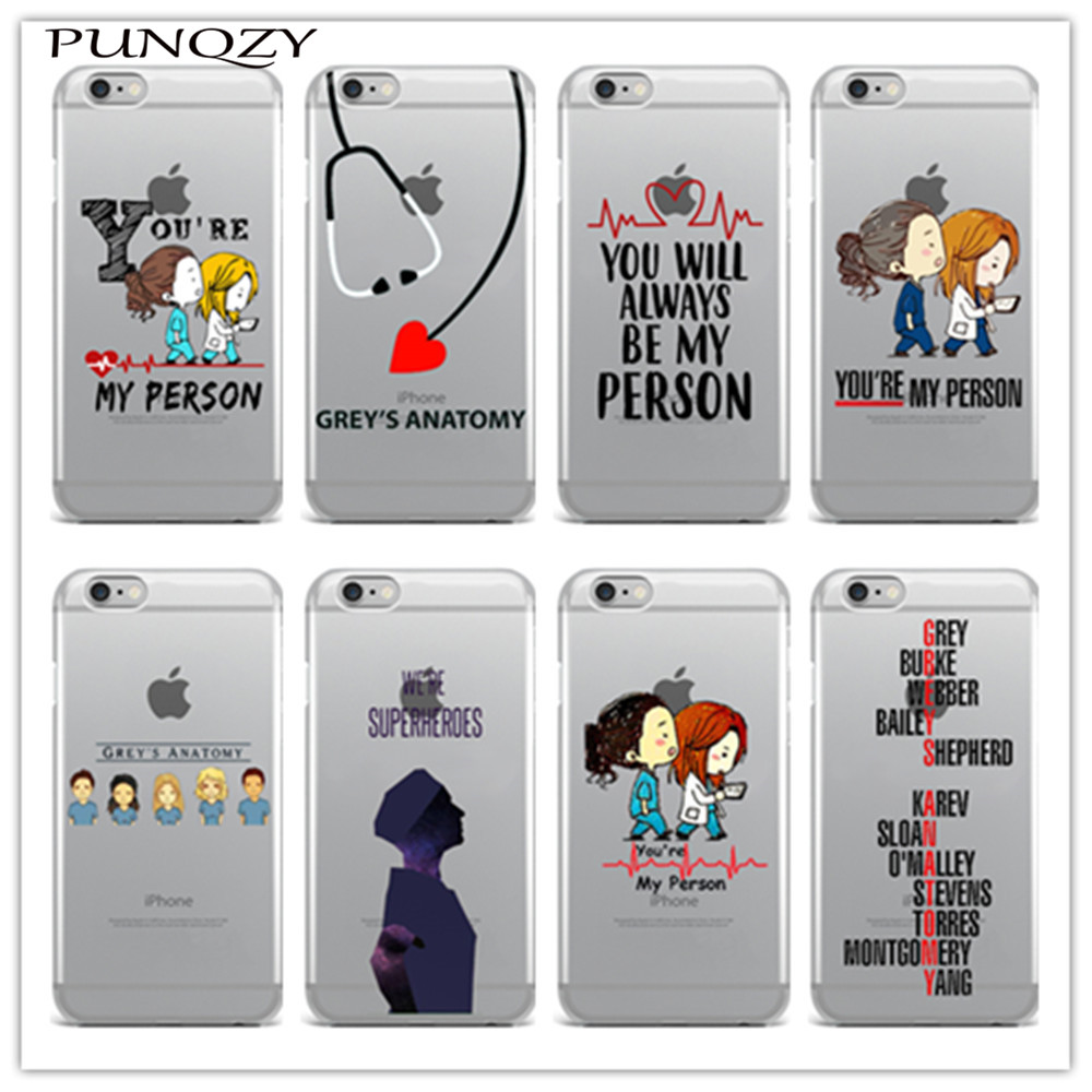 sports shoes 326a4 6aa74 Soft transparent TPU silicone Phone cover Grey's Anatomy Case For iPhone 6  6s Plus SE 5s 7 7Plus 4 4S 5C Back Cover Fundas Coque