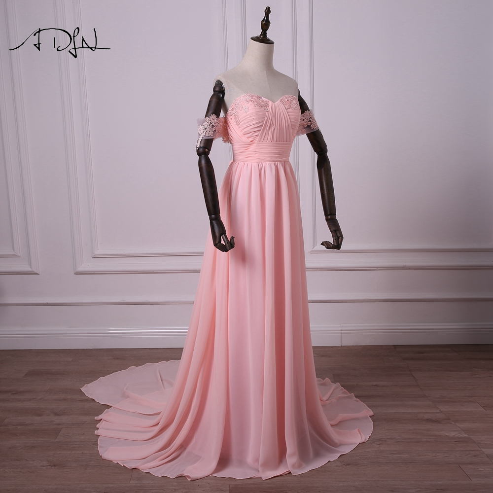 Aliexpress.com : Buy ADLN Simple Colored Wedding Dresses Off the ...