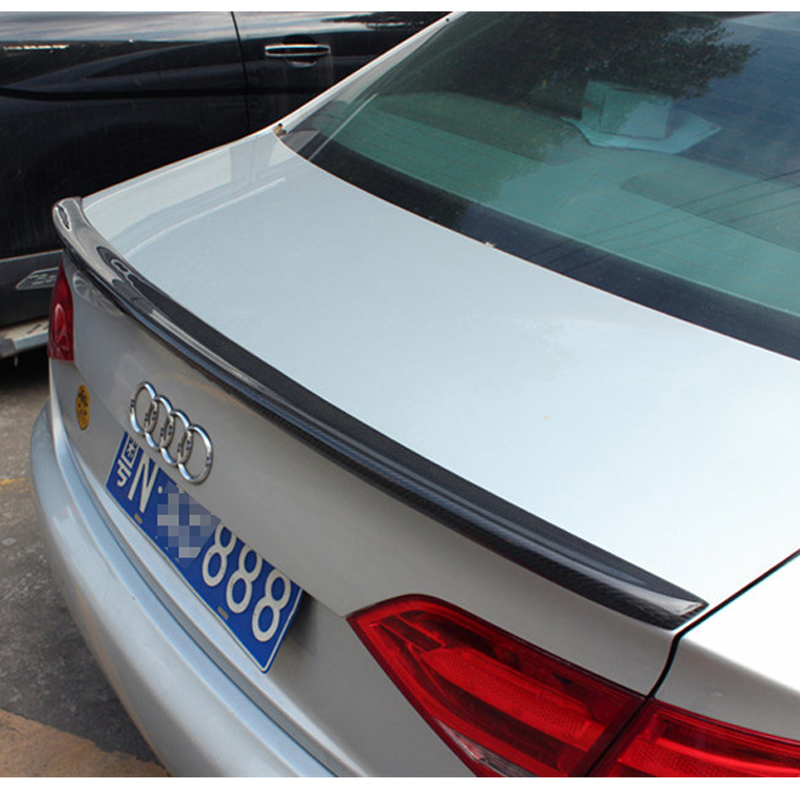 For Audi  A4 B8 Sedan 4Doors 2009 2010 2011 2012  S4 style high quality carbon fiber rear wing Roof rear box decorated spoiler
