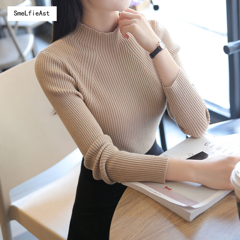 SLA2018 Turtleneck Pullover Female Thick Bottoming Shirt Warm Slim Long-Sleeve Short Design Causal High Quality Sweater Hot Sale