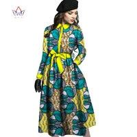 Brw 2017 جديدة قادمة فساتين للنساء dashiki الأفريقية طويلة كم الملابس الأفريقية بازان الثراء مكتب الحزب لسيدة wy11