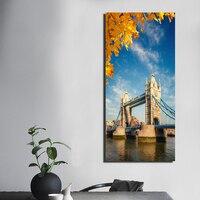 1 Pièces/ensemble Imprimé London Tower Bridge Angleterre Toile Peinture Impressions Mur Art Photos pour La Décoration Sans Cadre FA387