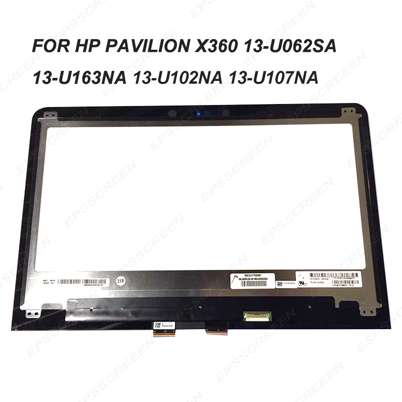 13.3 FOR HP M3 U Pavilion x360 13 U062SA 13 U163NA 13 U102NA 13 U107N assembly LP133WF2 SPL4 LCD screen+ touch screen digitizer