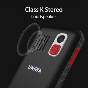 Image 4 - UNIWA V808G Mobile Phone Russian Keyboard 3G WCDMA Phone Strong Torch Senior Cellphone Elderly Big SOS Push Button Phone Old Man