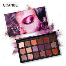 UCANBE Brand Twilight Nude Eyeshadow Makeup Palette 18 Color Matte Glitter Highly Pigmented Metallic Eyeshadow Pallete Cosmetics недорого