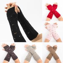 8b3287a6cd1b12 Frauen Winter Handgelenk Arm Wärmer Solide Strick Lange Handschuh  10,26(China) · 7 Farbe