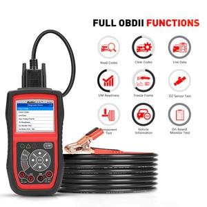 Image 2 - Autel AutoLink AL539B OBD OBD2 diagnostyka samochodowa 12 V czytnik kodów analizator baterii instalacja ładująca skaner Test obwodu narzędzie