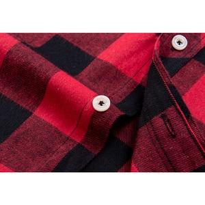 Image 5 - חדש לגמרי פלנל משובץ חולצה גברים מזדמן ארוך שרוול גבוהה כותנה אופנה 2018 זכר חולצה תחתונית Homme Camisa Masculina החברתי