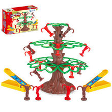 Funny Kids Jumping Monkeys Board Game Catpult All Your Monkeys into The Tree First and Win Interactive Toys for Children Gifts(China)