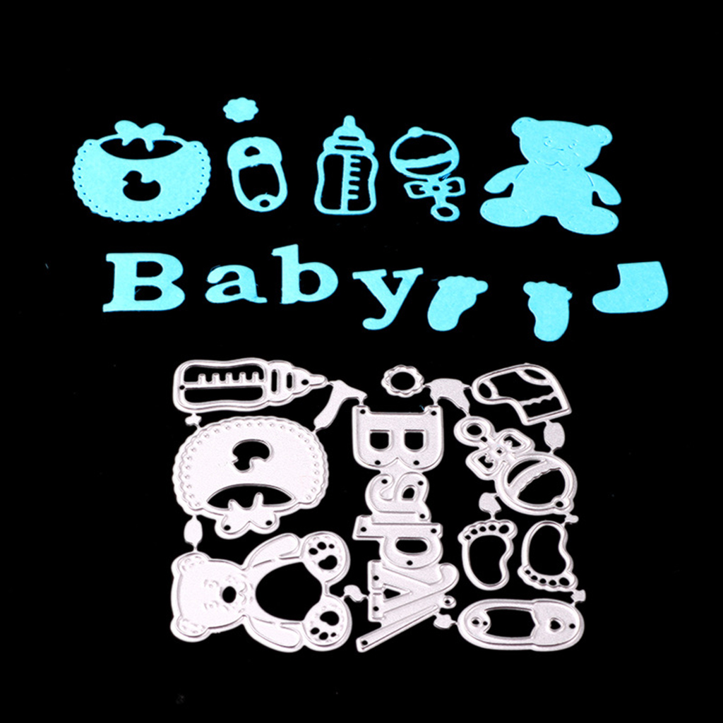 Cute Baby Shower Cutting Dies Stencil Scrapbook Paper Card Craft Album Embossing Template for DIY Craft Supplies(China)