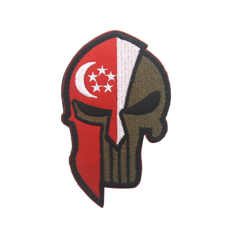 ... Spartan Punisher Spain Russia United States Israel Canada British  Turkey Flag Patch Tactics Morale Military Uniform ... 775530f788f