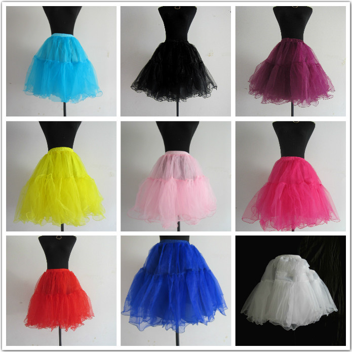 Adult 50s 20 inch Swing Vintage Petticoat Retro Underskirt Rockabilly Tutu Fancy Skirt Drop Shipping - ABC Dress store