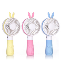 Mini Portable Nail Polish Dryer Air Conditioning Fan USB Cooler Rechargeable Fans pink blue yellow