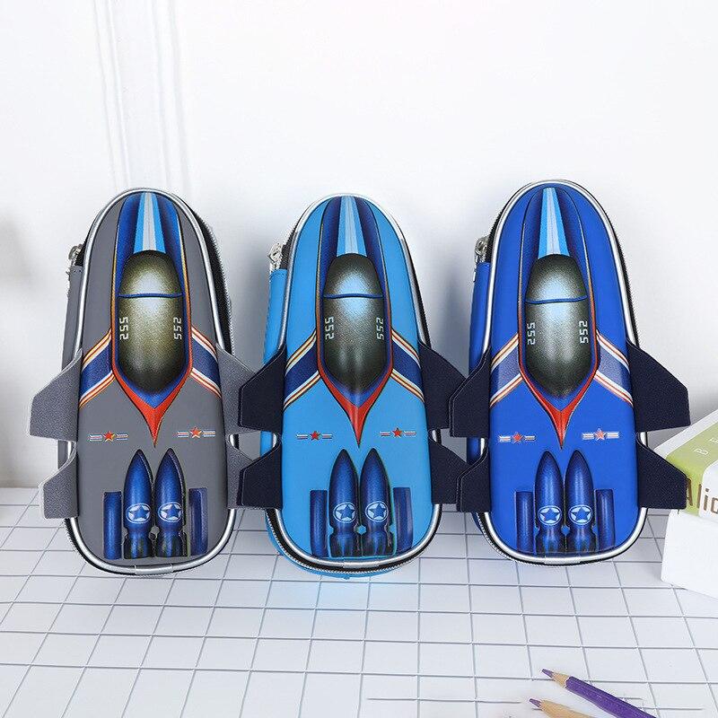 aircraft pencil case High capacity estuche escolar Creative pencilcase Kawaii kalem kutusu school supplies material escolar Pencil Cases Education & Office Supplies - title=
