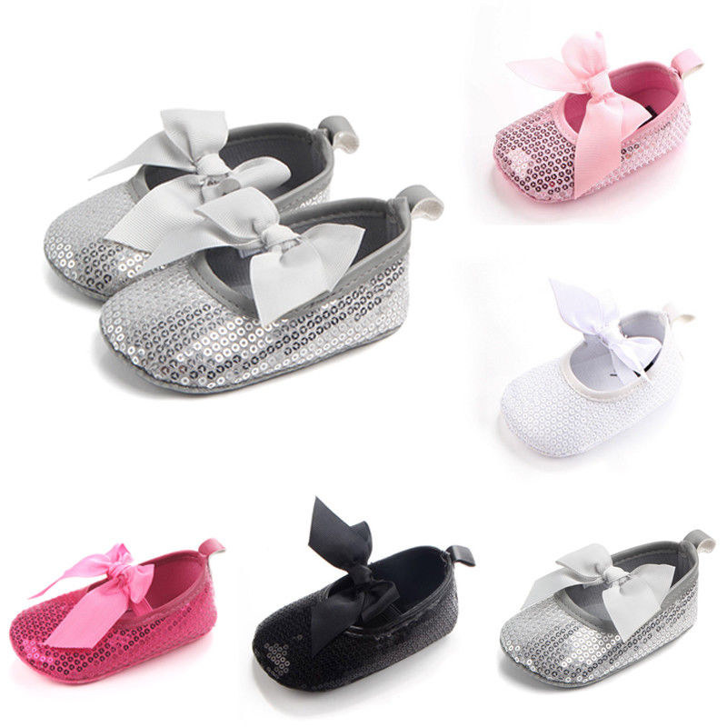 Adorable Babies Girls Sequins Sandals Boot Crib Infant Soft Slipper Shoes 0-18M ...