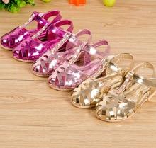 Новые случайные дети сандалии девочек сандалии brathable вырезы принцесса сандалии девочек сандалии летние новые девушки обувь