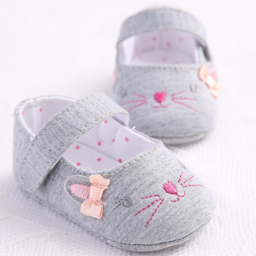 Cute Cartoon Toddler Girl Crib Shoes Hot Newborn Baby Girl Shoes Flower Soft Sole Anti-slip Baby First Walker Shoes