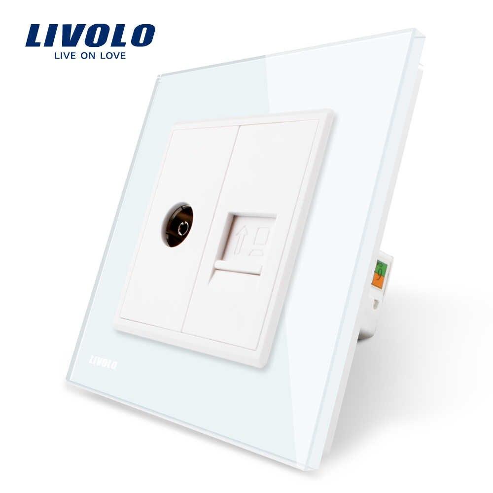 Livolo Роскошный настенный сенсорный датчик переключатель, выключатель света, выключатель питания, Хрустальное стекло, розетка питания, многофункциональные розетки, бесплатный выбор