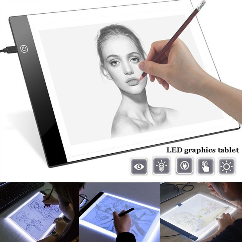 A4 Led Graphic Tablet Writing Painting Light Box Tracing Board Copy Pads Digital Drawing Tablet Artcraft A5 Copy Table Led Board Refreshing And Enriching The Saliva Digital Tablets Computer & Office