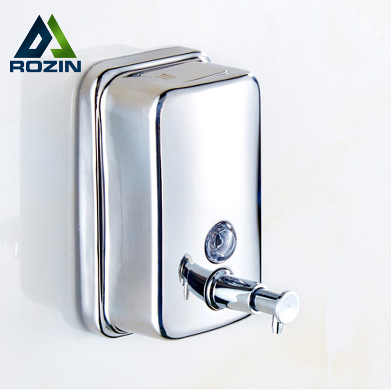 Newly Stainless Steel Finished Liquid Soap Dispenser Bathroom Soap Dispenser Box cheaper stainless steel liquid soap dispenser kitchen sink soap box free shipping chrome finished