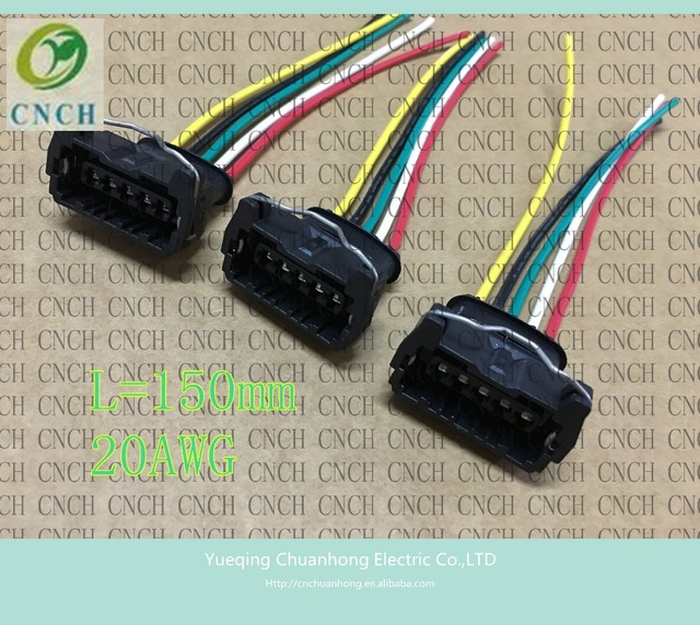 cnch 5pin 150 mm compressor waterproof connector wiring harness plug car  electric connector plug and wire