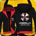 Обитель зла толстовка косплей костюм куртка с капюшоном пальто мода зонт корпорация логотип мужская толстовка биологической