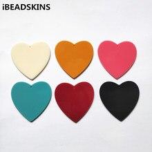 Nouveauté! 49x50mm 50pcs acrylique breloques en forme de coeur pour accessoires de boucles doreilles, pièces de boucles doreilles, fabrication de bijoux
