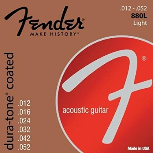 Fender 80/20 Coated Dura-Tone Acoustic Guitar Strings, 880XL 880CL 880L 880M