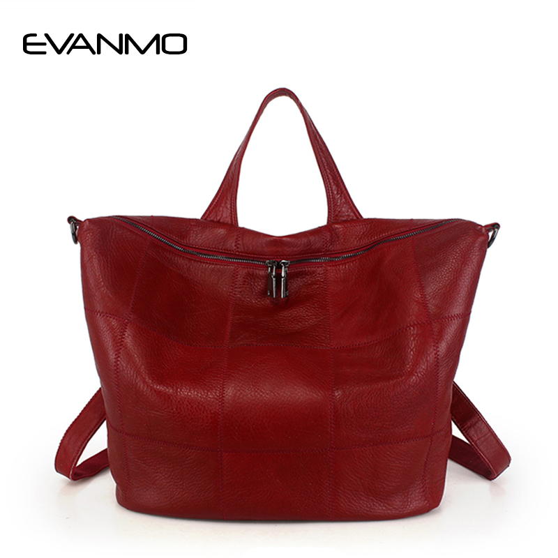 Фото Most Cost-effective Backpack New Arrival Genuine Leather Schoolbag Vintage Women Shoulder Bag High Quality Women Bag Travel Bag