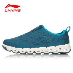 LI-NING ORIGINAL Men Breathable Aque Shoes Outdoor Water Footwear LI-NING Arc Mesh Sneakers Walking LINING Sports Shoes AHLL005
